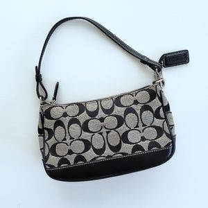 Coach Signature C Print Black & Gray Wristlet